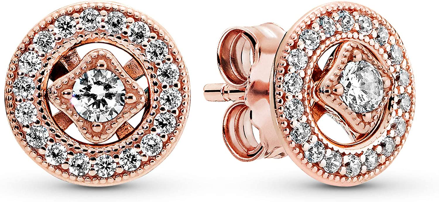 Pandora Minneapolis Mall Jewelry Vintage Circle OFFicial Stud in Cubic Earrings Zirconia P