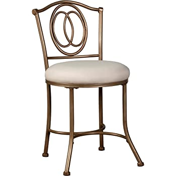 Modern Vanity Dressing Table Bow Shaped Vanity Chair,Iron Makeup Leisure Chair,Bedroom Princess Chair,Girls Ladies Creative Makeup Stool