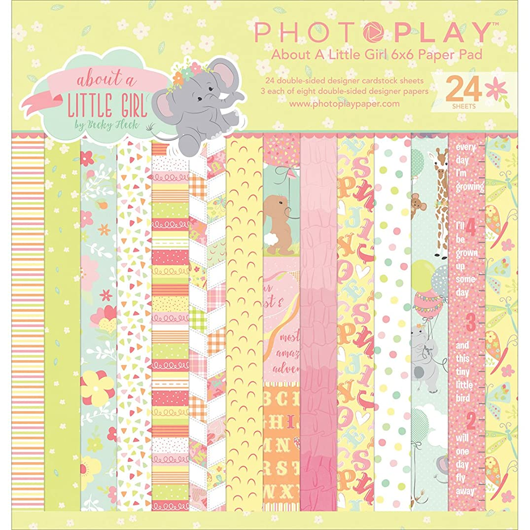 Photoplay Paper PHTALG2467 Photo Play About A Little Girl Paper Pad 6x6