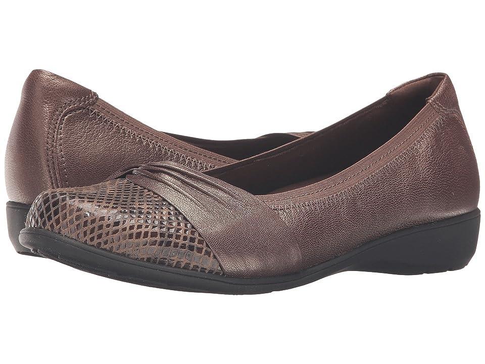 d09d1ed603e9 Aravon Andrea-AR (Bronze) Women s Slip on Shoes