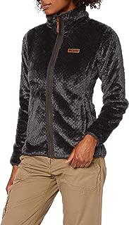 Columbia Women's Fire Side Ii Sherpa Jacket Fleece Dark Grey Large