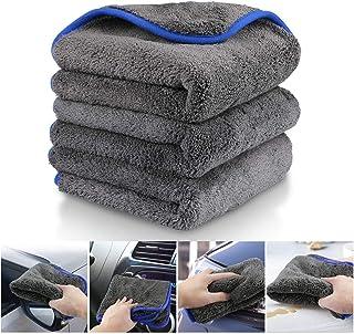 Fixget AM0032 1200 GSM 3Pcs Microfaser Trocknen Handtuch waschen Reinigung Detaillierung Küche Reinigungstücher Wachs und Versiegelung Entfernung, perfekt für Auto waschen & Lackieren 40x40cm, 1200GSM