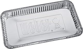 Weber Aluminiowe tacki ociekowe o wymiarach 36,8 cm x 16,5 cm x 5,1 cm, jednorazowe tacki na tłuszcz