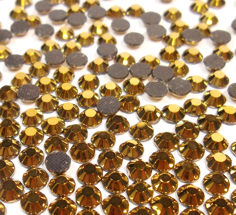 Crystal AB Perlin Lot de 720 strass ronds en verre /à dos plat SS30 HotFix de 6 mm 5,5 /à 6 mm