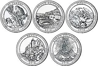 2012 P, D BU National Parks Quarters - 10 coin Set Uncirculated