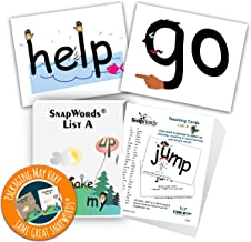 SnapWords List A Teaching Cards