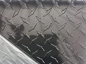 Aluminum Diamond Plate Sheets - Painted Black - .025 (thin) 4x8