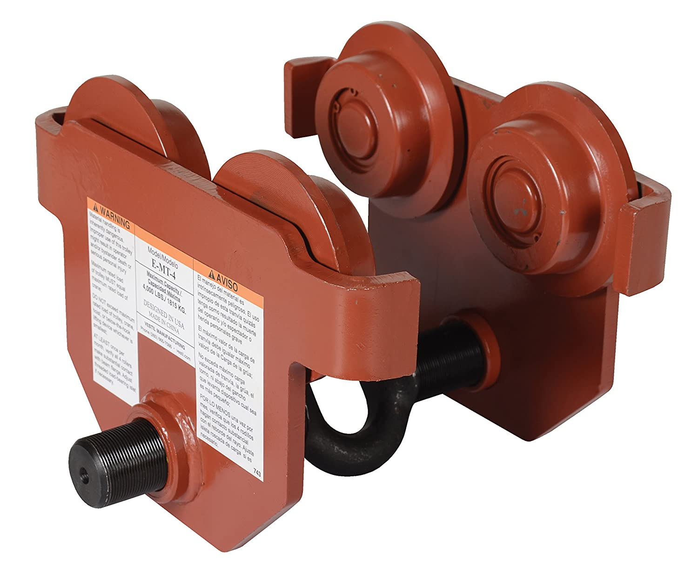 Vestil E-MT-4 Steel Gorgeous Low Profile Eye Manual 4 Max 67% OFF Push Trolley 000-l
