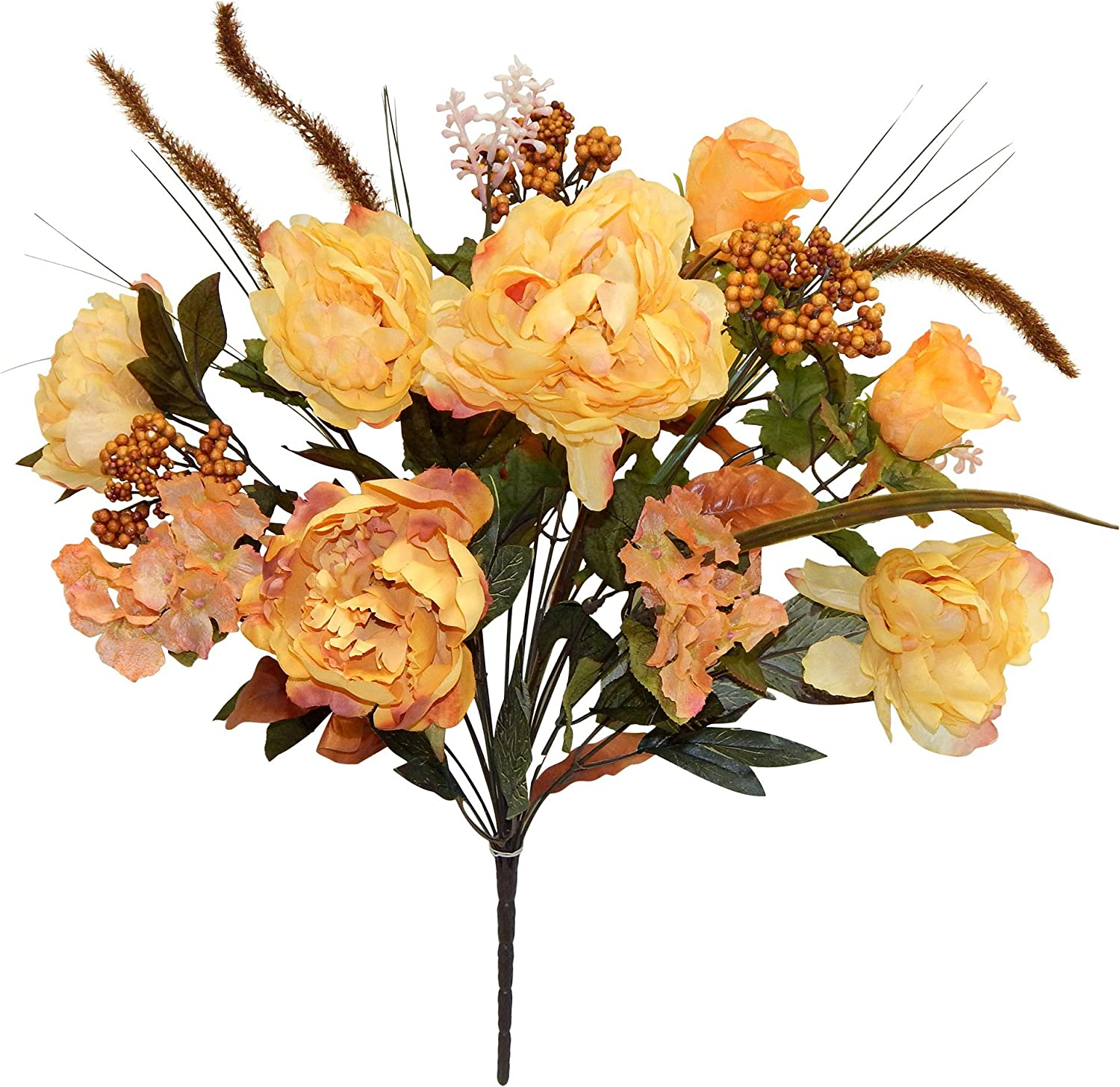 Amazon Com Wholesale Silk Floral Artificial Bouquet Flowers Depot Peony Party Wedding Craft Stores Special Event Decoration 25 Almond Home Kitchen