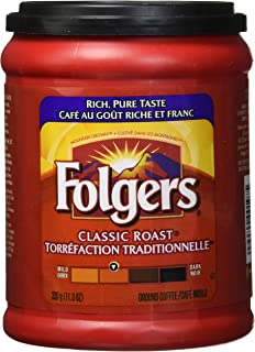 Folgers Classic Roast Ground Coffee 320g/11.3oz, (Imported from Canada)