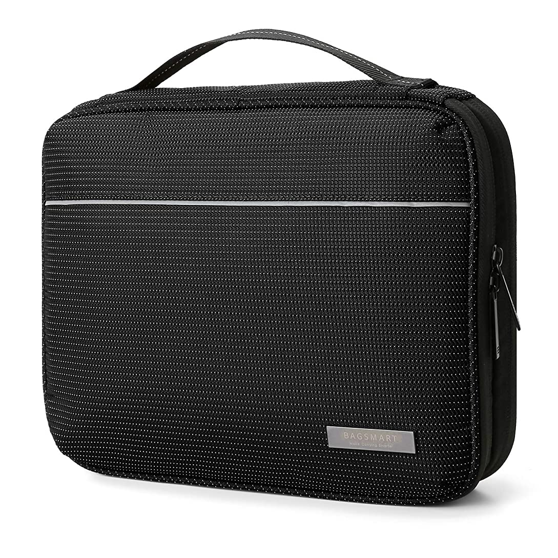 BAGSMART 2-Layer Travel Electronic Cable Organizer Cases for 10.5