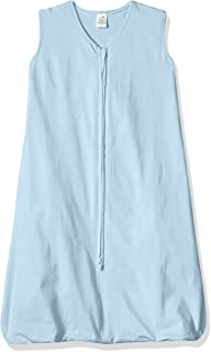 Touched by Nature Baby Organic Cotton Sleeveless Wearable Sleeping Bag, Sack, Blanket, Solid Lt. Blue, 6-12 Months