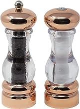 """Olde Thompson 3521-03 FBA_N4MS5NQ 7"""" Copper Plated-Pepper Mill & Salt Shaker Set"""