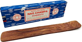 Alternative Imagination 100 Gram Nag Champa with Incense Holder (Wooden Incense Tray)