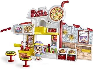 Pinypon - Pizzería, escenario de juego, con 1 figurita de