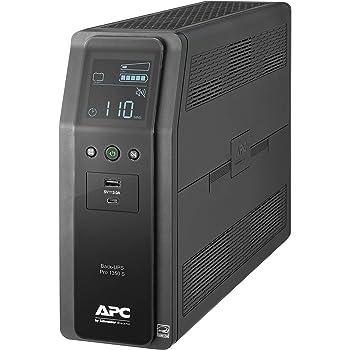 APC UPS, 1350VA Sinewave UPS Battery Backup & Surge Protector, BR1350MS Backup Battery with AVR, (2) USB Charger Ports, Back-UPS PRO Uninterruptible Power Supply