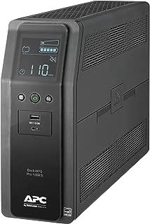 APC Sine Wave UPS, 1350VA UPS Battery Backup & Surge Protector, Back-UPS Pro Uninterruptible Power Supply (BR1350MS)