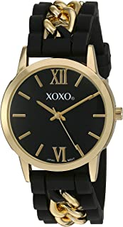 XOXO Womens Quartz Watch, Analog Display and Rubber Strap XO8101