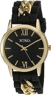 اكس او اكس او ساعة كوارتز معدنية و مطاط للنساء - لون اسود (XO8101)
