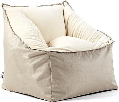 Big Joe Slalom Beanbag Chair, Oat/Ivory