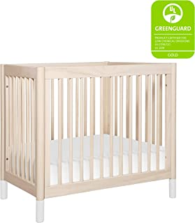 Babyletto Gelato 2-in-1 Mini Crib, Washed Natural / White