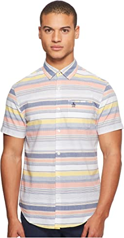 Original Penguin - Short Sleeve Yarn-Dye Stripe Woven Shirt