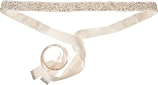Nina Women's Pazely Art Deco Satin Bridal Belt