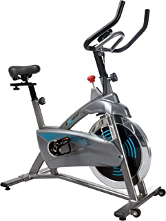 EFITMENT Streamline Indoor Cycling Bike, Magnetic Resistance Belt Drive Exercise Stationary Cycle w/Digital Monitor, Chromed Flywheel - IC037