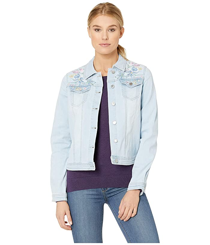 FDJ French Dressing Jeans  Statement Denim Pastel Embroidered Jacket (Celestial) Womens Coat
