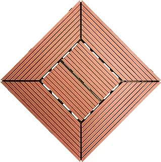 Samincom Easy Instation Interlocking Deck Tiles for Patio Garden Terrace Bathroom Shower, Water Resistant Flooring Tiles Indoor Outdoor, 12
