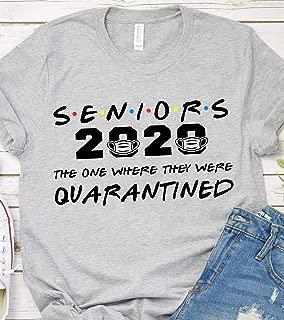 Seniors the one where they were quarantined 2020 T-Shirt for CNA RN Registered Nurse Nurselife Who Survived 2020 Coronavirus Pandemic Nursing Saying Sweatshirt Sweater Hoodie Tee Women Plus Size