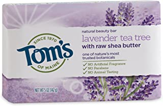 Tom's of Maine Natural Beauty Bar Soap with Raw Shea Butter, Lavender Tea Tree, 5 oz