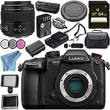 Panasonic Lumix DC-GH5S Mirrorless Micro Four Thirds Digital Camera + Panasonic Leica DG Macro-Elmarit 45mm f/2.8 ASPH. MEGA O.I.S. Lens Bundle