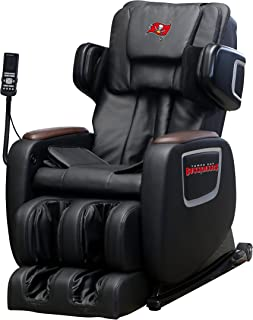 NFL Electric Full Body Shiatsu Massage Chair Foot Roller Zero Gravity Wheat (Tampa Bay Buccaneers)