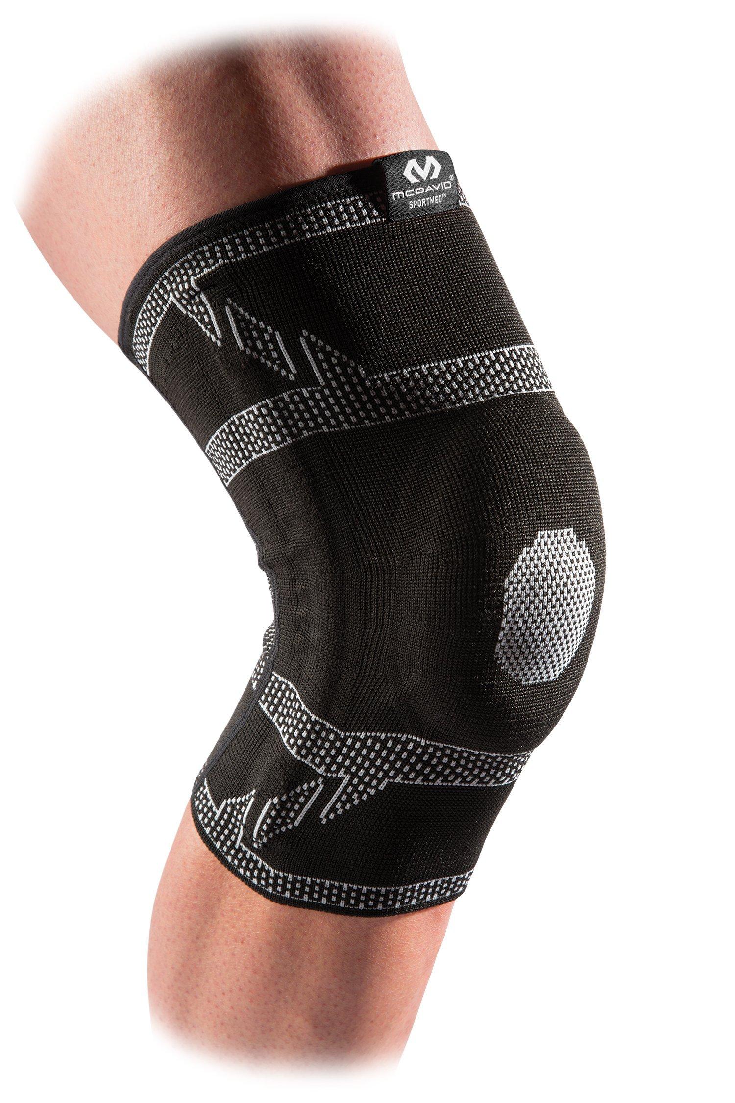 McDavid 5133ELITE 工程弹性带凝胶支撑护膝和竹与压缩护膝适用于膝盖*