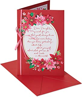 American Greetings Christmas Card for Daughter (Floral)