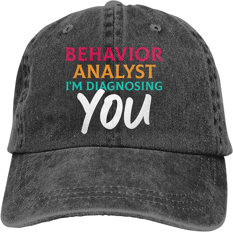 Behavior Analyst I'm Diagnosing You Baseball Cap Trucker Hat Retro Cowboy Dad Hat Classic Adjustable Sports Cap for Men&Women Black
