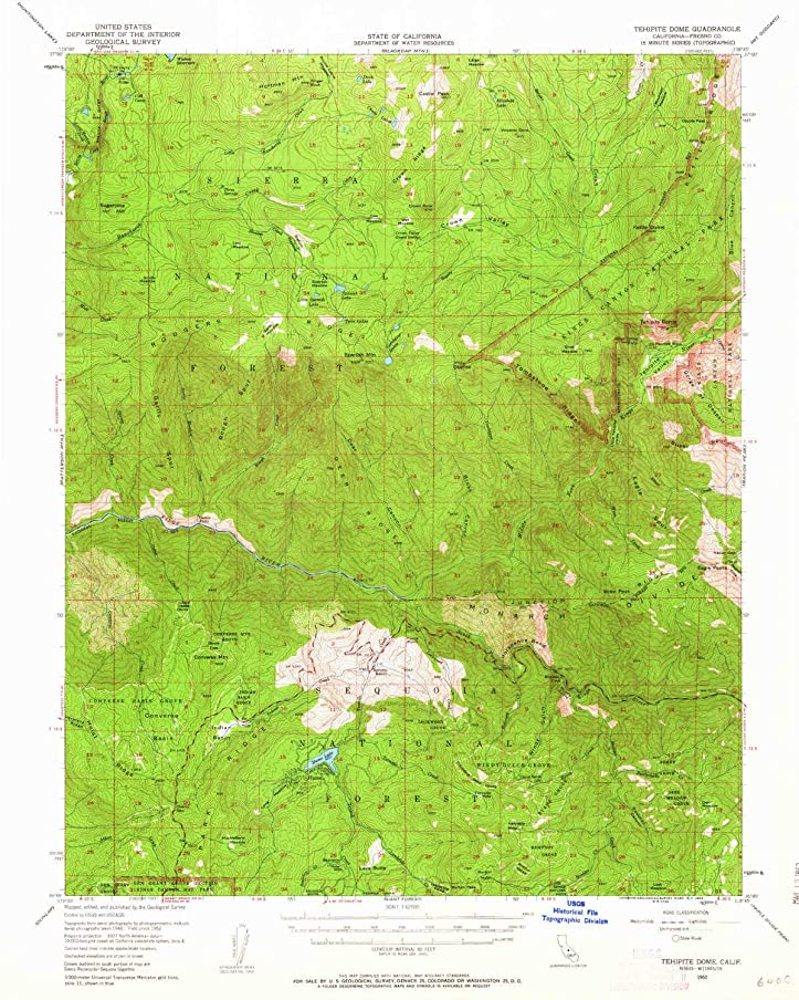 YellowMaps Tehipite Dome CA topo map, 1:62500 Scale, 15 X 15 Minute, Historical, 1952, Updated 1963, 20.8 x 16.6 in