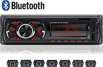 LSLYA Coche Stereo Retroiluminación de 7 colores Llamadas