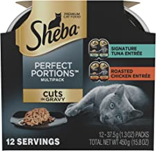 Sheba Perfect Portions Multipack Cuts In Gravy Signature Tuna And Roasted Chicken Entrée Wet Cat Food 2.6 Oz. (12 Twin Packs)