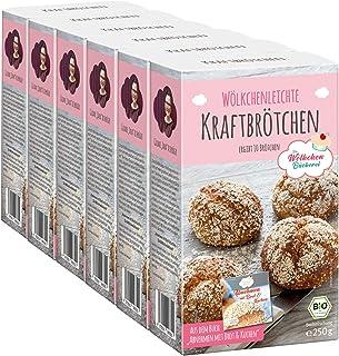 Bio Backmischung Kraftbrötchen für 6 x 10 Brötchen - Rezept aus dem Buch Abnehmen mit Brot und Kuchen - DE-ÖKO-007