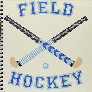 3dRose db_116293_1 Blue and Aqua Field Hockey Sports Design-Drawing Book, 8 by 8-Inch