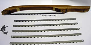 Bow Bread Knife Blades 5 Piece with Screws and Template, Stainless Steel