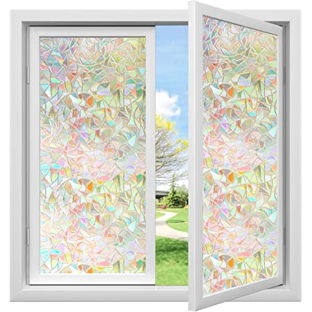 show original title Details about  /3D Palace 490NAM Window Film Print Sticker adherent Stained Glass UV Fay