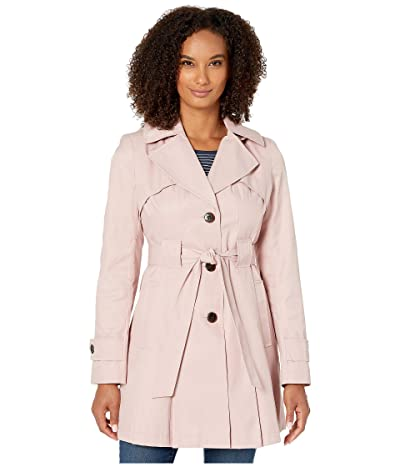 Via Spiga Single Breasted Hooded Belted Trench (Peony) Women