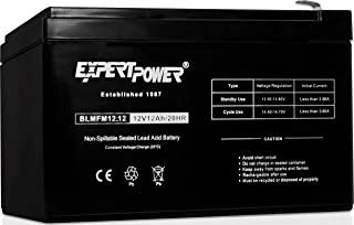 ExpertPower 12V 12AH Sealed Lead Acid (SLA) || LW-6FM12S, LHR12-12, HR1251W, GPS12-12F2 and BP12-12 Replacement Battery Black EXP1212 Absorbent Glass Mat 1 Pack