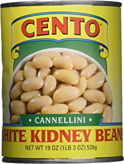 Cento White Kidney Beans Cannellini, 19 Ounce (Pack of 12)