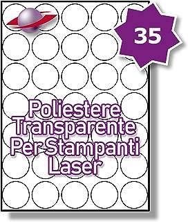 216 Par Foglio 2160 Etichette Label Planet/® Etichette di Carta Bianca A4 Rotonde per Stampanti a Getto dInchiostro e Laser 13mm Diametro 10 Fogli LP216//13 R.