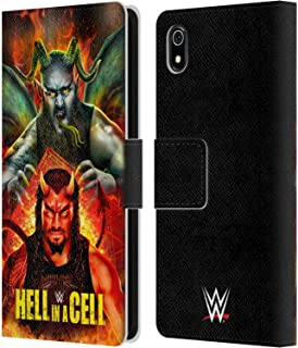 Official WWE Roman & Braun 2018 Hell in A Cell Leather Book Wallet Case Cover Compatible for Xiaomi Redmi 7A (2019)