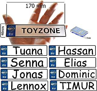 """Schild Fun Autoschild mit dem Namen /""""LUCA/"""" 520 x 110 mm reflektierend Alu"""